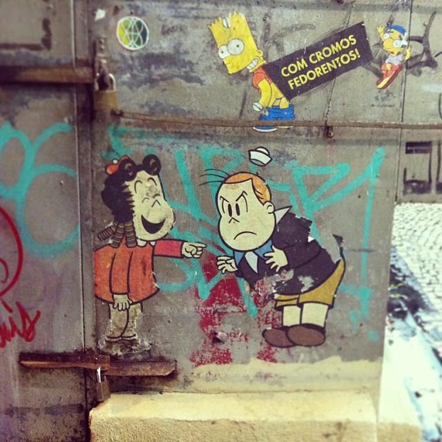 #sticker #stickerart #streetart #streetsticker #cartoon #streetartrio #ipanema