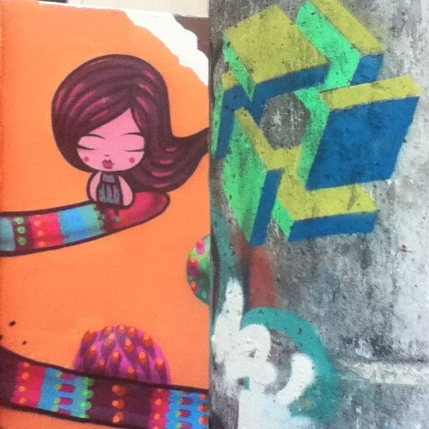 #streetart in #rio by #tozfbc and #cubotopia #urbanart #urbanwalls #artederua #arteurbana #graffiti #streetartrio #rio #brazil #spraypaint #stencil #riodejaneiro #gavea