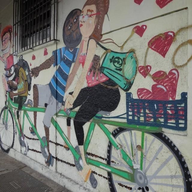 @cazesawaya and #nhobi collab graffiti wall. #riostreetart #streetartrio #urbanart #graffitiart #streetart #artederua #arteurbana #graffitibrasil #riodejaneiro #maisamormenosmotor #euvoudebike #bicicleta #ciclista #bycicle #cycling #bikebrasil