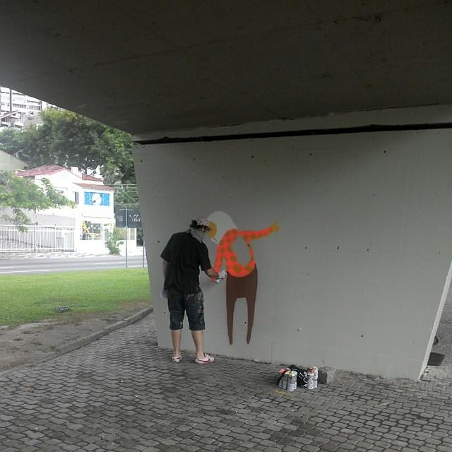 Ao vivo @osgemeos #streetartrio #osgemeos #graffiti