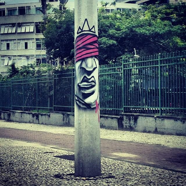Arte do amigo @carlosbobi na lagoa #streetartrio