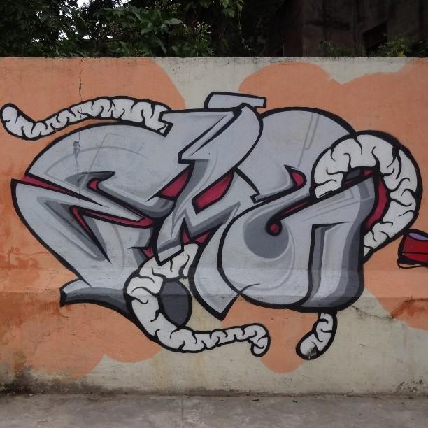 Graffiti art by @joaomazza . #joaomazza #tagging #riostreetart #streetartrio #urbanart #graffitiart #streetart #artederua #arteurbana #graffitibrasil #riodejaneiro