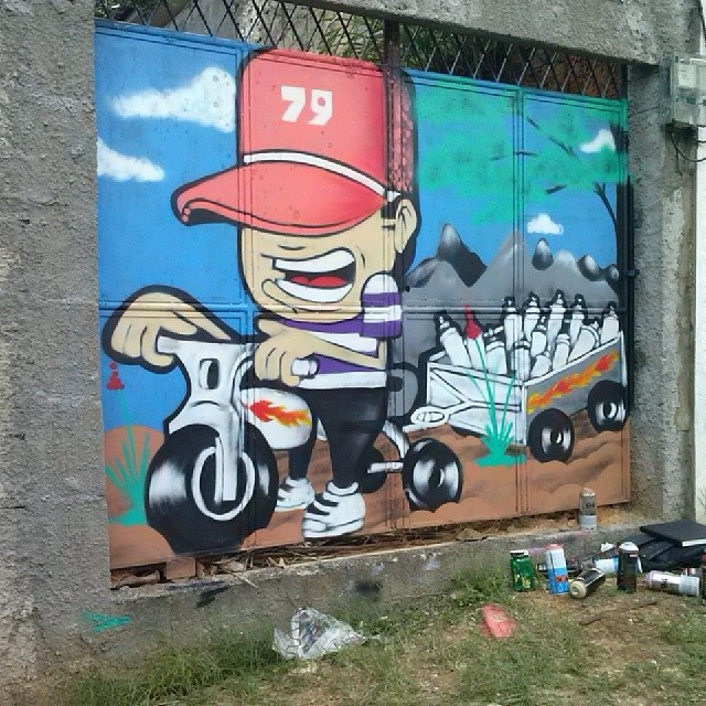 #To79 #EmRitimo #DeNatal #ArteDeRUA #GraffitiRj #StreetArtRio