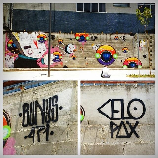 Trampo todo. @celopax da hora o rolé. #graffitirio #streetartrio #GAMBOA #bunys #celopax #2013