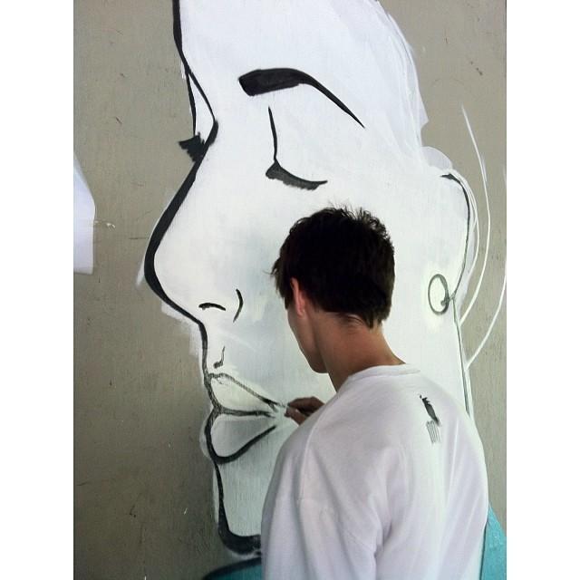 Work in progress • Cosme Velho #streetartrio #instagrafite