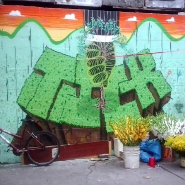 #streetartrio #tickrjgraf #tree #arvore #instagrafit #riodejaneiro #newyears #copacabana
