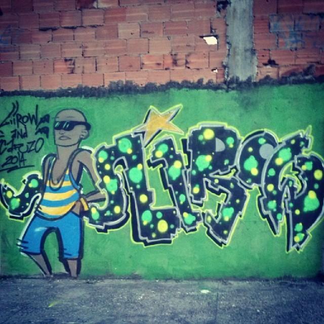 @renatocafuzo and Liirow 2014 #fuckingstikeback #streetartrio #yellowline