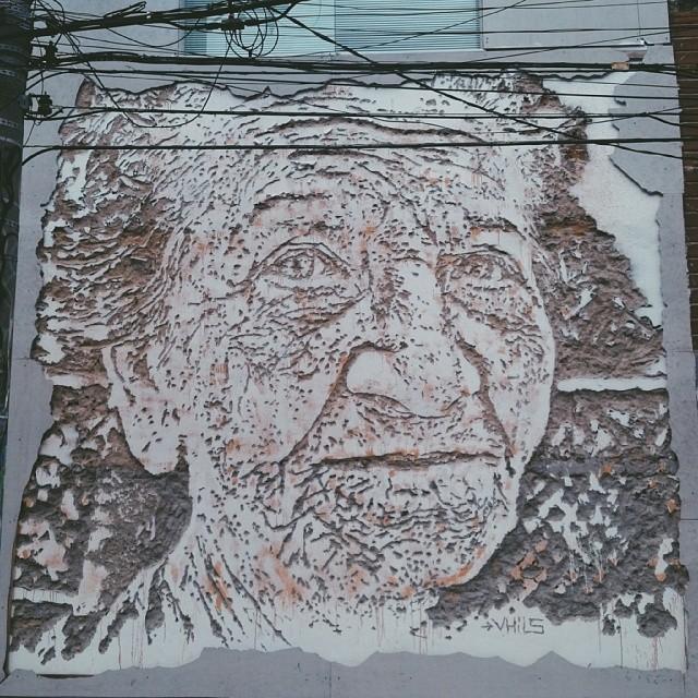 A arte existe porque a vida não basta. ( #streetartrio)