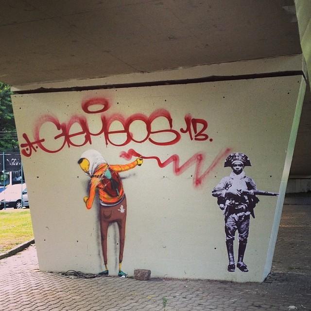 Osgemeos. #streetartrio #tonoadorofarm #1001razoes #rioetc #vejario #rioeuamoeucuido #oglobo #instario #riodejaneiro #instagramrio #021 #instagramrj #caricagram #rio450
