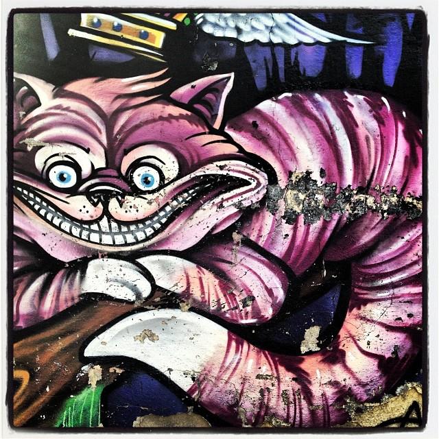 Para onde vc quer ir, Alice? Alice no Pais das Maravilhas! #murosdorio #artelivre #grafite #graffrio