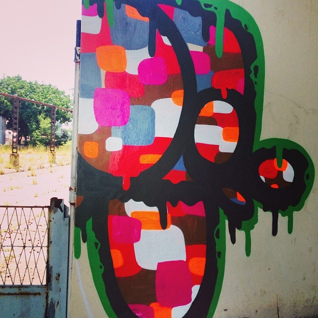 Povoando o bairro!! #grafitti #grafittiart #grafittirio #streetart #streetartrio #streetlogos #santateresa #mga #caroca #cores #hot #logos #rj #riodejaneiro #2014