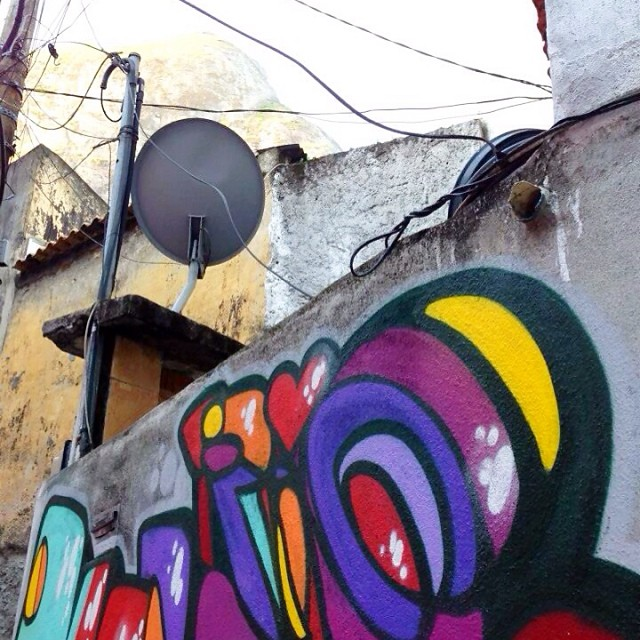 RIO! #rj #rio #riodejaneiro #spraypaint #streetartrio #graffiti #graffitilovers #marceloment #mentone #letras #letters #caligrafia #vidigal #morrodovidigal #detail #detalhe