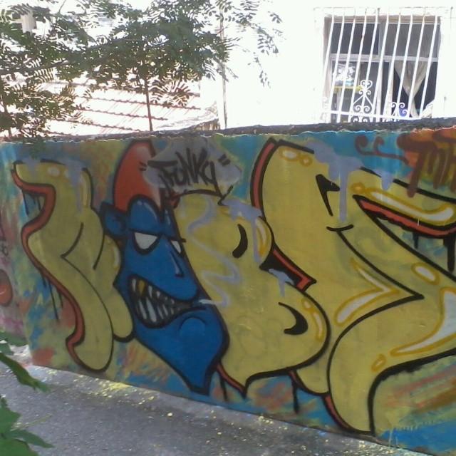 Trow Up #bombgraff #lovebombing #bomber #streetartrio #santateresa #rj #meusrolés #nobã630 #artistasurbanoscrew #funky