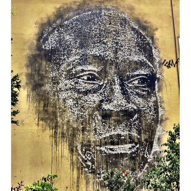 Wall by the portuguese artist @vhils in Rio