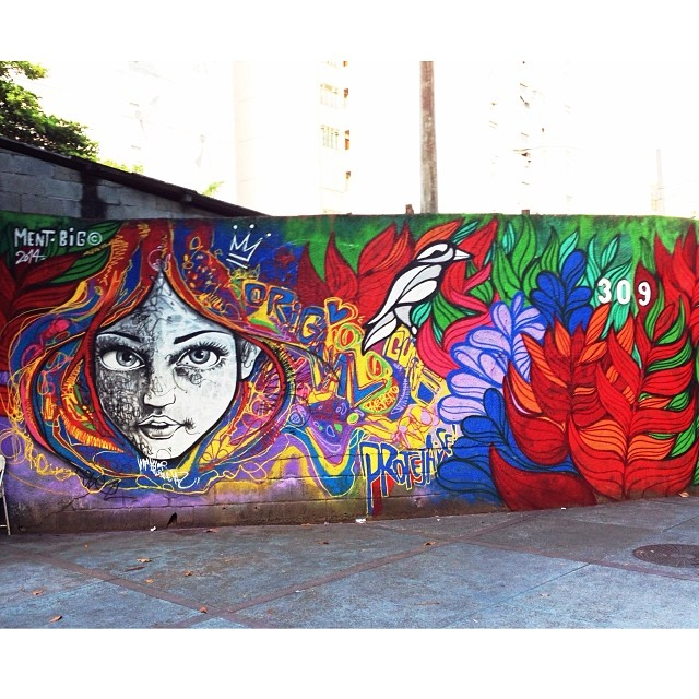 Wall by two of my favorite artists @marceloment & @brunobig