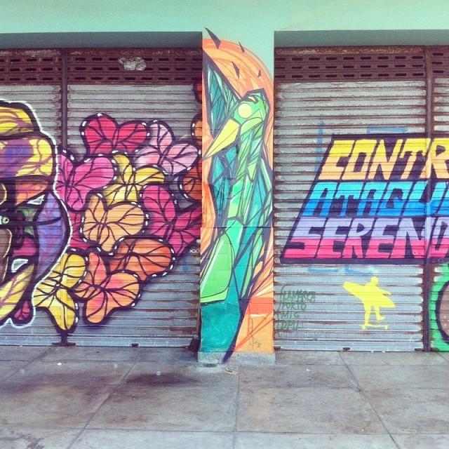 #contraataquesereno @pedroshaldersporto @marcelolamarca #copacabana #instagrafite #streetartrio