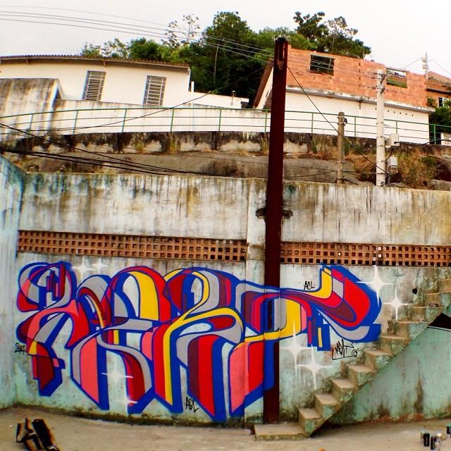 #rio #rj #riodejaneiro #vidigal #morrodovidigal #spraypaint #letters #letras #graffiti #graffitilovers #streetartrio #mentone #marceloment