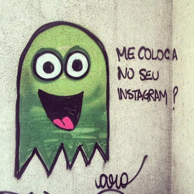 te coloco onde você quiser, meu lindo! #streetart #streetartrio #graffiti