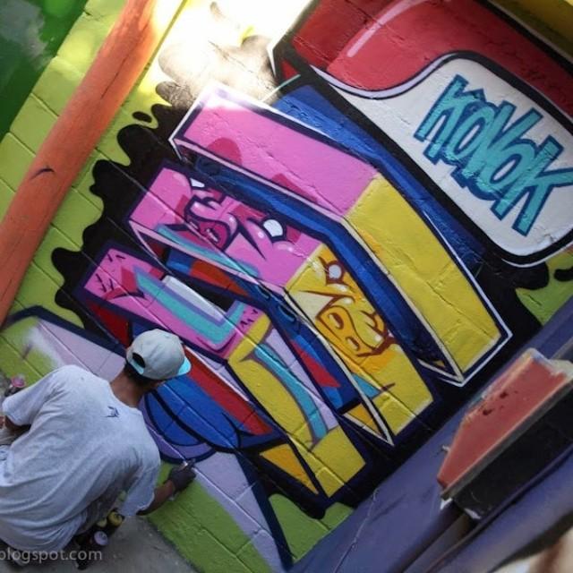 @brunolifekvk em acão no caminho do graffiti.morro dos prazeres. #caminhodograffiti #streetartrio