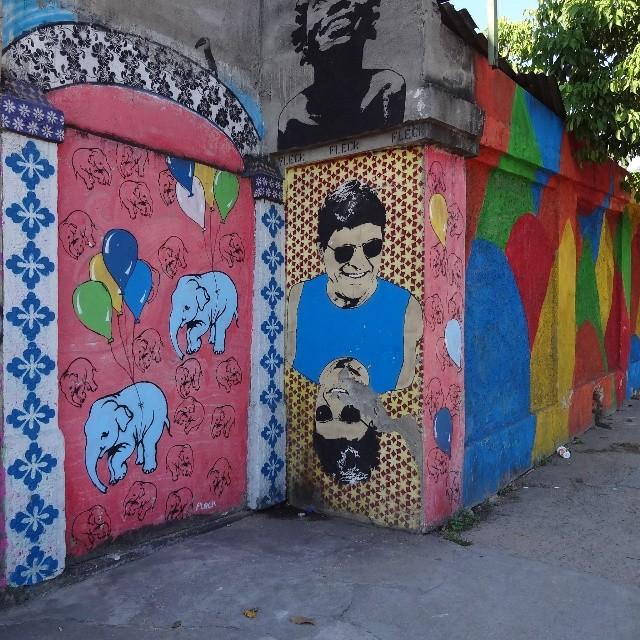 A very special guy made me shoot the stencil graffiti wall by Rodrigo Fleck again... #fleck #stencilgraffiti #urbanart #streetart #artederua #arteurbana #streetartrio #riostreetart #riodejaneiro