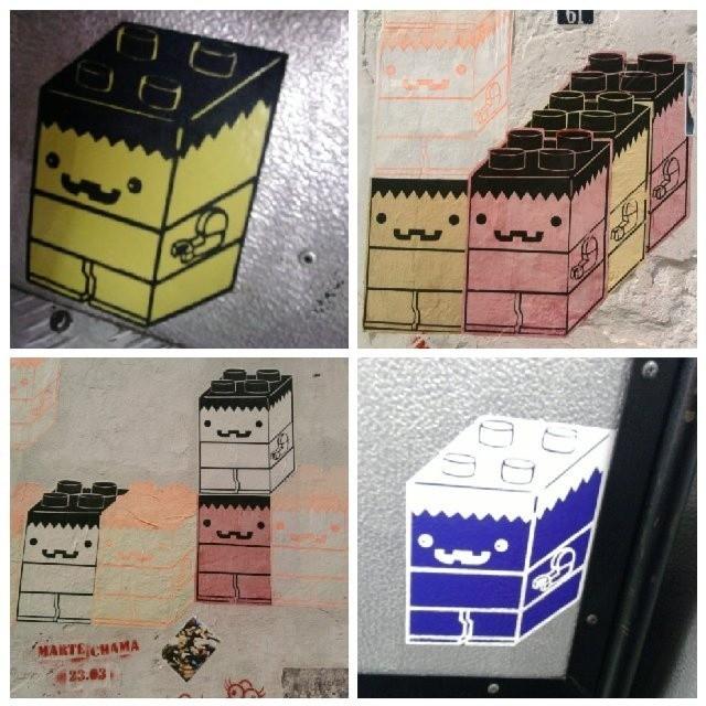 Bricks are assembled and connected to our hearts by @ohomemlego . ♡ #homemlego #LEGO #legobricks #coletivografico #stickers #stickerart #stickerbomb #lambe #lambelambe #urbanart #streetart #artederua #arteurbana #streetartrio #riostreetart #riodejaneiro