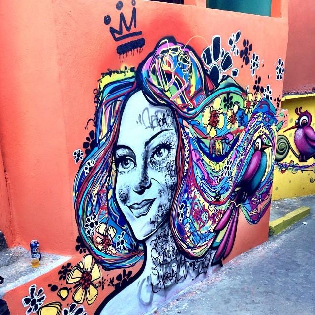 Com @dninja_bichocoisa #caminhodograffiti #morrodosprazeres #prazeres #santateresa #riodejaneiro #rj #rio #streetartrio #graffiti #mentone #marceloment