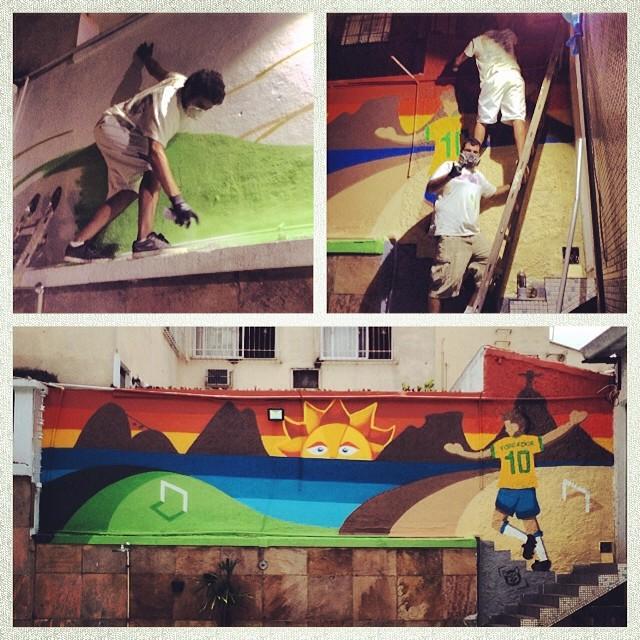 Deu trabalho mas valeu! #spray #sprayart #streetart #streetartrio #grafite #graffiti #arteurbana #urbanart #instagrafite #mtn #montana