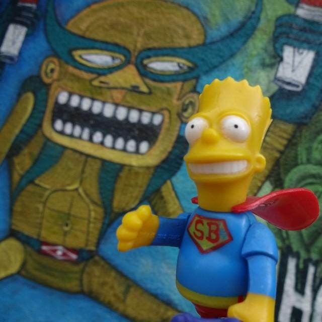 Do the Super Bart, man!!! #bartsimpson #superbart #bartman #elbarto #superhero #simpsons #mattgroening #riostreetart #streetartrio #urbanart #graffitiart #streetart #artederua #arteurbana #graffitibrasil #riodejaneiro