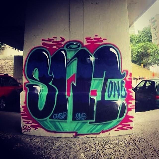 Foto de hoje, pintura de ontem. Foto: Filippo Fiuz #streetartrio