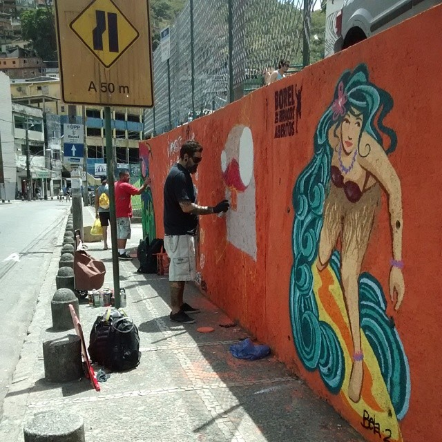 Grafite seu esporte #boreldebraçosabertos #graffiti #art #aerosolart #spray #arte #streetartrio #grafiteseuesporte #riodejaneiro #rua