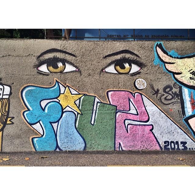 Mais uma da série dos olhares  • Humaitá - Rio de Janeiro #streetartrio #instagrafite #graffiti