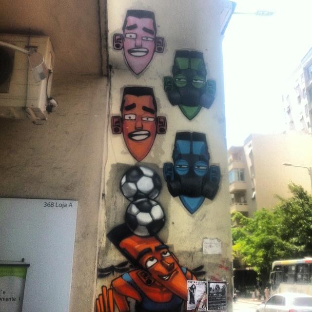 Soccer faces #streetart #streetartrio #art #graffitti #rj #realcoolrio #botafogo #pels