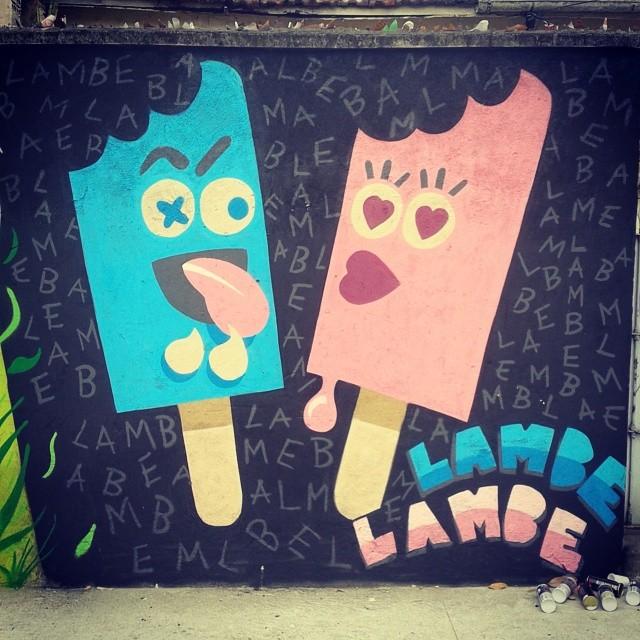 Ta calor?! Lambe-Lambe!!! #streetartrio #graffiti #graffitiart #calor #verao #picole #icecream #dozetreze