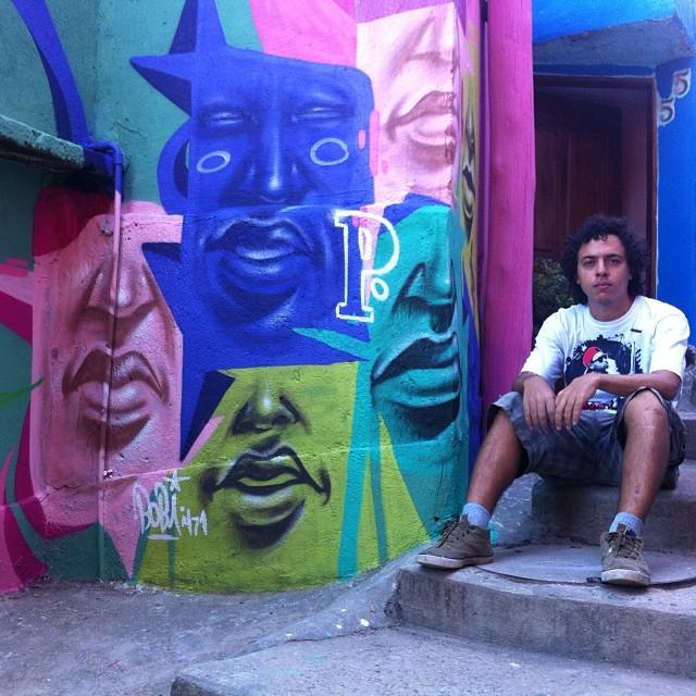 #morrodosprazeres #streetartrio #graffiticarioca valeu @marcioswk @marcelojou pela recepção #facebobi