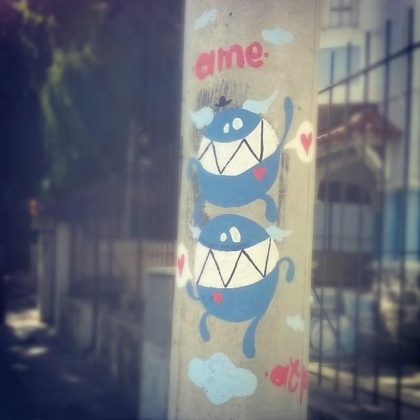 Ame! #StreetArtRio #streetart #Tijuca #MonstrodaNuvem