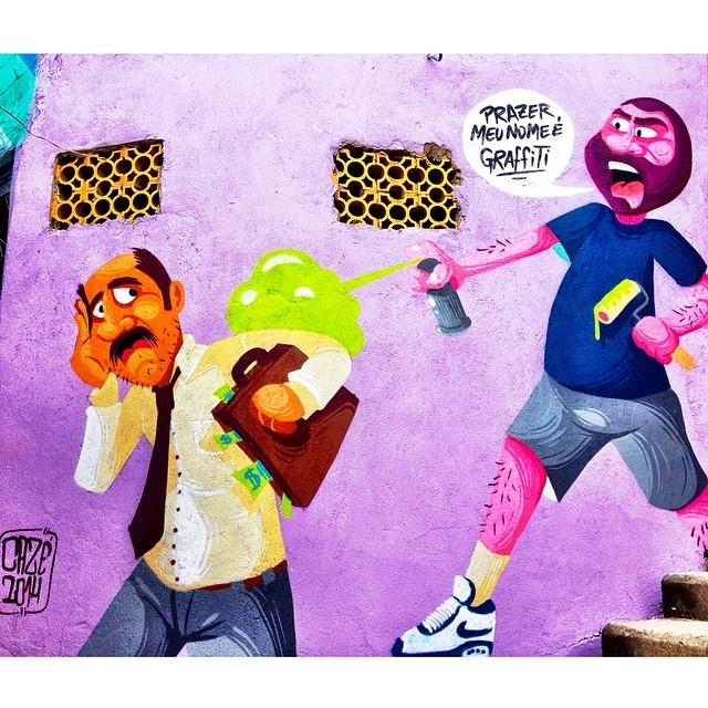 Caminho do Graffiti: Art by @Caze sawaya