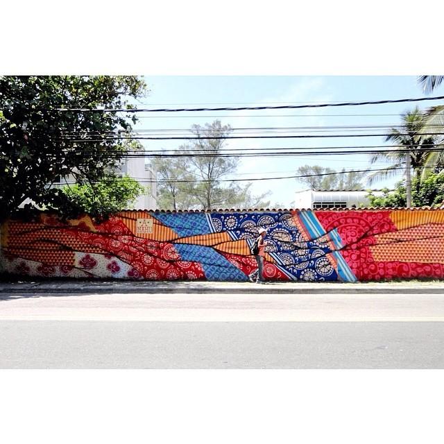 #Graffiti Estrada do Pontal - Recreio dos Bandeirantes #anahu #anandanahu #firmeforterecords #RiodeJaneiro www.ANAHU.com