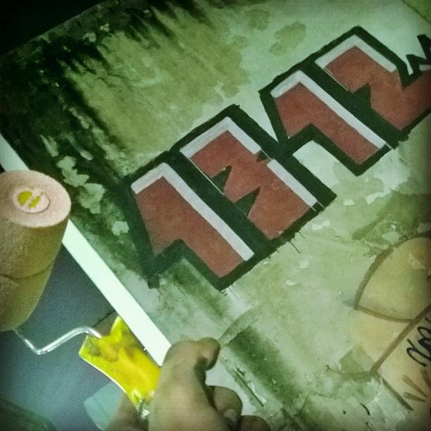 Vem que vem na madruga.. #StreetArtRio #1312 #ACAB #Bilha #graffiti #graffitiArt