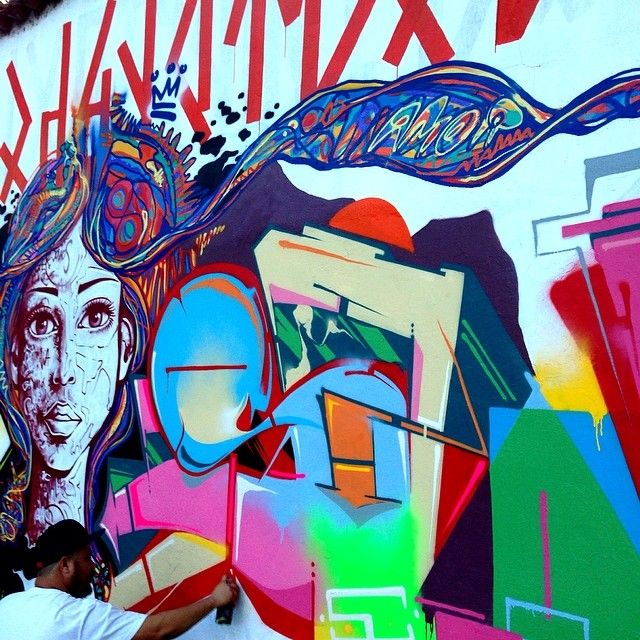 @marcioswk em ação... #rio #riodejaneiro #rj #instagrafite #streetartrio #freehand #freestyle #graffiti #swk #marcioswk #mentone #marceloment @joanacesar