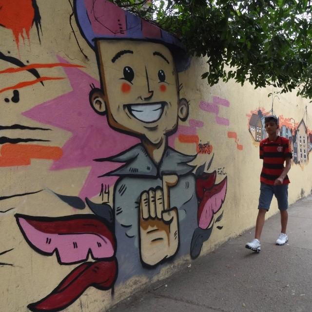 El Ninho Crew is back: graffiti art by legendary @bivup !!! ♡ #bives #elninhocrew #biveselecta #riostreetart #streetartrio #urbanart #graffitiart #artederua #arteurbana #graffitibrasil #riodejaneiro