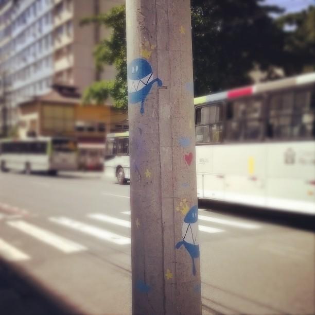 Eu vejo monstros por toda parte! #monstrodanuvem #Nadi #atp #streetartrio #graffiti #streetart #Tijuca