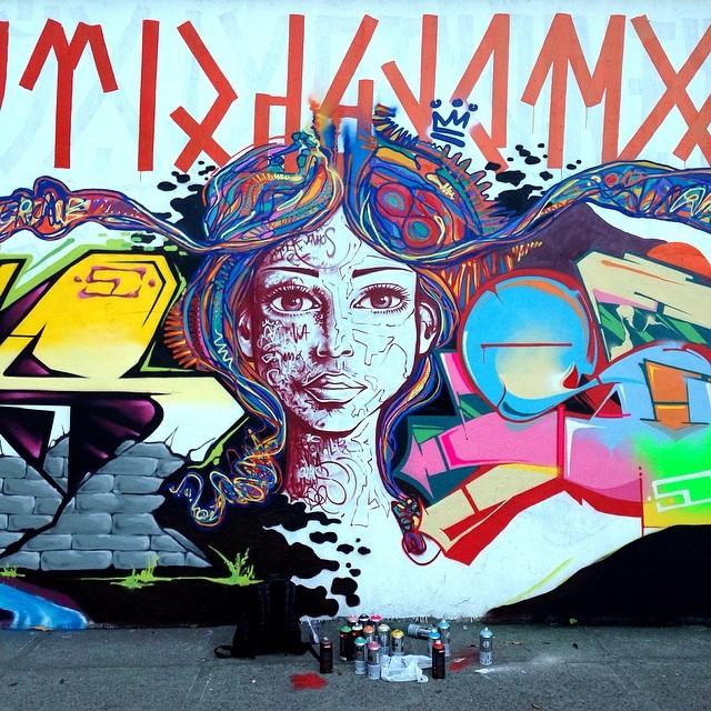 Feat. my brothers @marcelojou @joanacesar @marcioswk #meton #riodejaneiro #rio #rj #freestyle #freehand #graffiti #instagrafite #streetartrio #spraypaint #mentone #marceloment