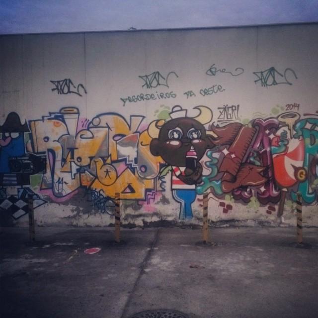 #Flapjack #graffiti #dalvan #rdoisó #zagri #streetartrio