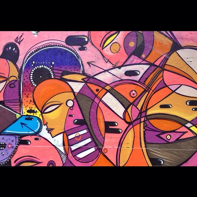 Fresh paint. Street art in Lagoa.