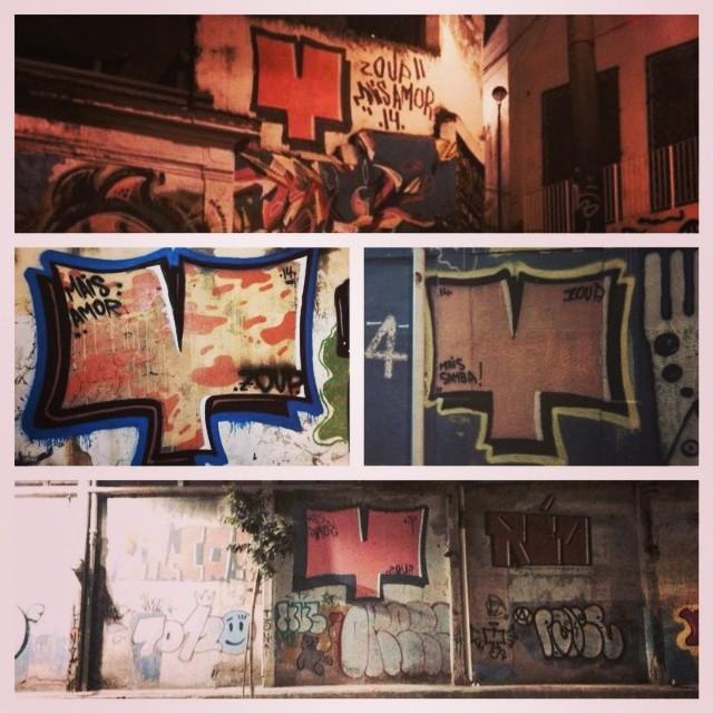 Gamboa e pedra do sal com @lino339 e réo. #amorifiquese #streetartrio #bomb #graffiti #grafite #tagsandthrows #arte #art #coracao #bombardeio #extensor #riodejaneiro #brasil #brazil #gamboa #pedradosal