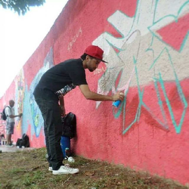 Graffiti em Cosmos-Rj. Aniversario do Coyotes. #Dtone #wildstyle #graffiti #streetartrio