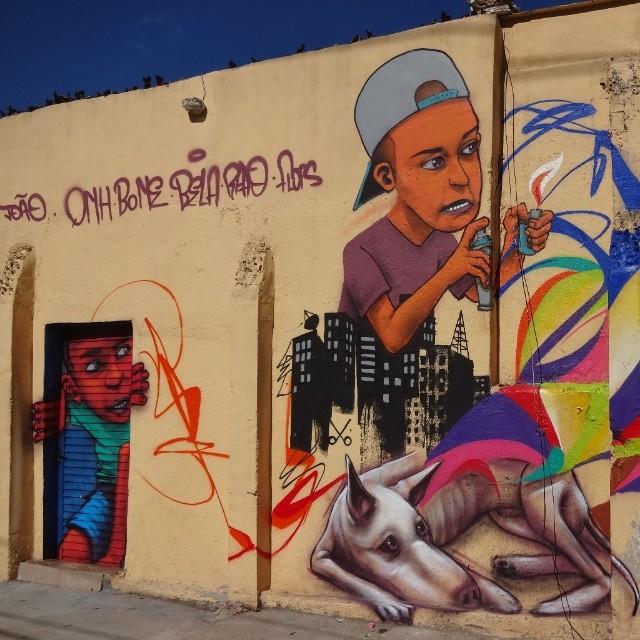 Graffiti wall & door by Quinho Fonseca. #riostreetart #streetartrio #urbanart #graffitiart #artederua #arteurbana #graffitibrasil #riodejaneiro