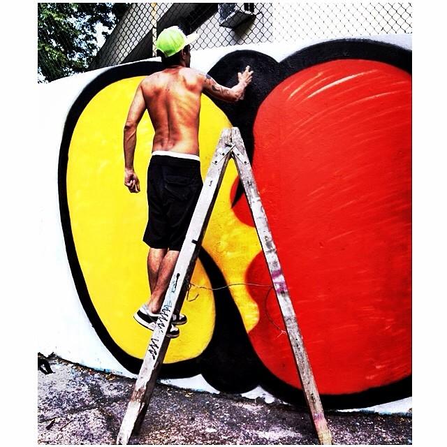 NO #action #djonereal #photo  @cvieira  #fleshbeckgrill #streetartrio #graffiti #streetart