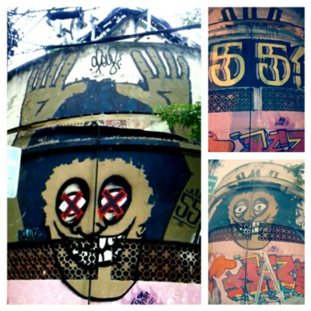 Namoral mermo, levanta a mão pro alto e faz o cinco cinco!!!!! #tagsandthrows #throwsallday #throwup #throwseverday #graffitisavedmylife #rollergraff #roller #extensor #látex #graffiti #instagraffiti #grafiterj #grafitebrasil #streetlife #streetfiles #streetart #streetartrio #artederua #arteurbana