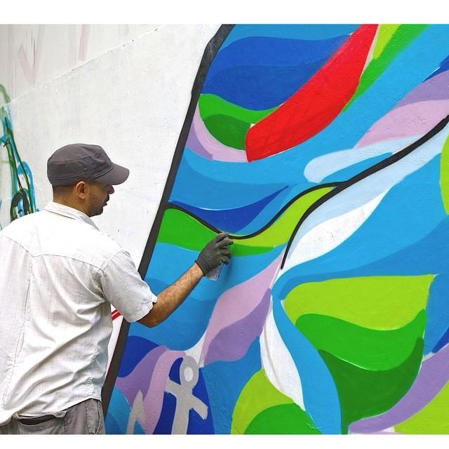 O Artista @brunobig em ação no #CAP